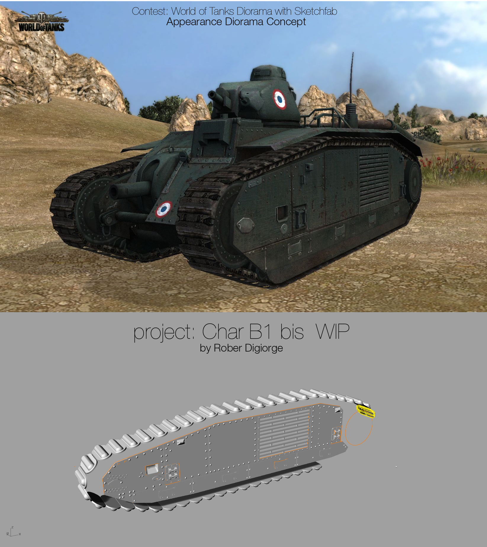 Competition: World of Tanks Diorama with Sketchfab WIP
