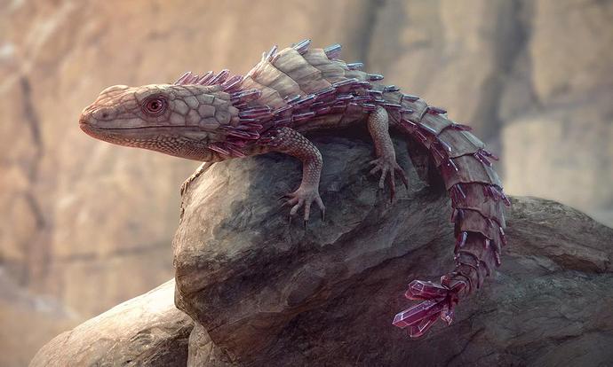 cristal lizard