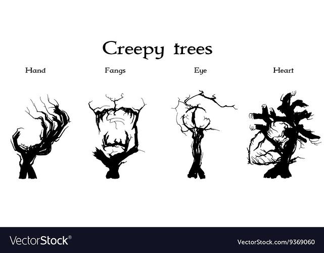 creepy-trees-set-vector-9369060