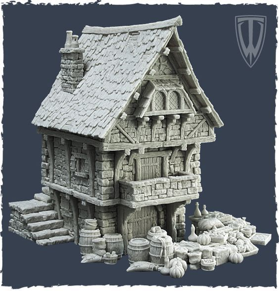 Wip medieval house work in progress wip sketchfab forum for Medieval house design