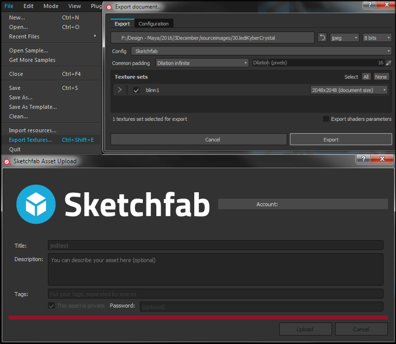 Substance Painter to Sketchfab [A help Guide to normal maps and
