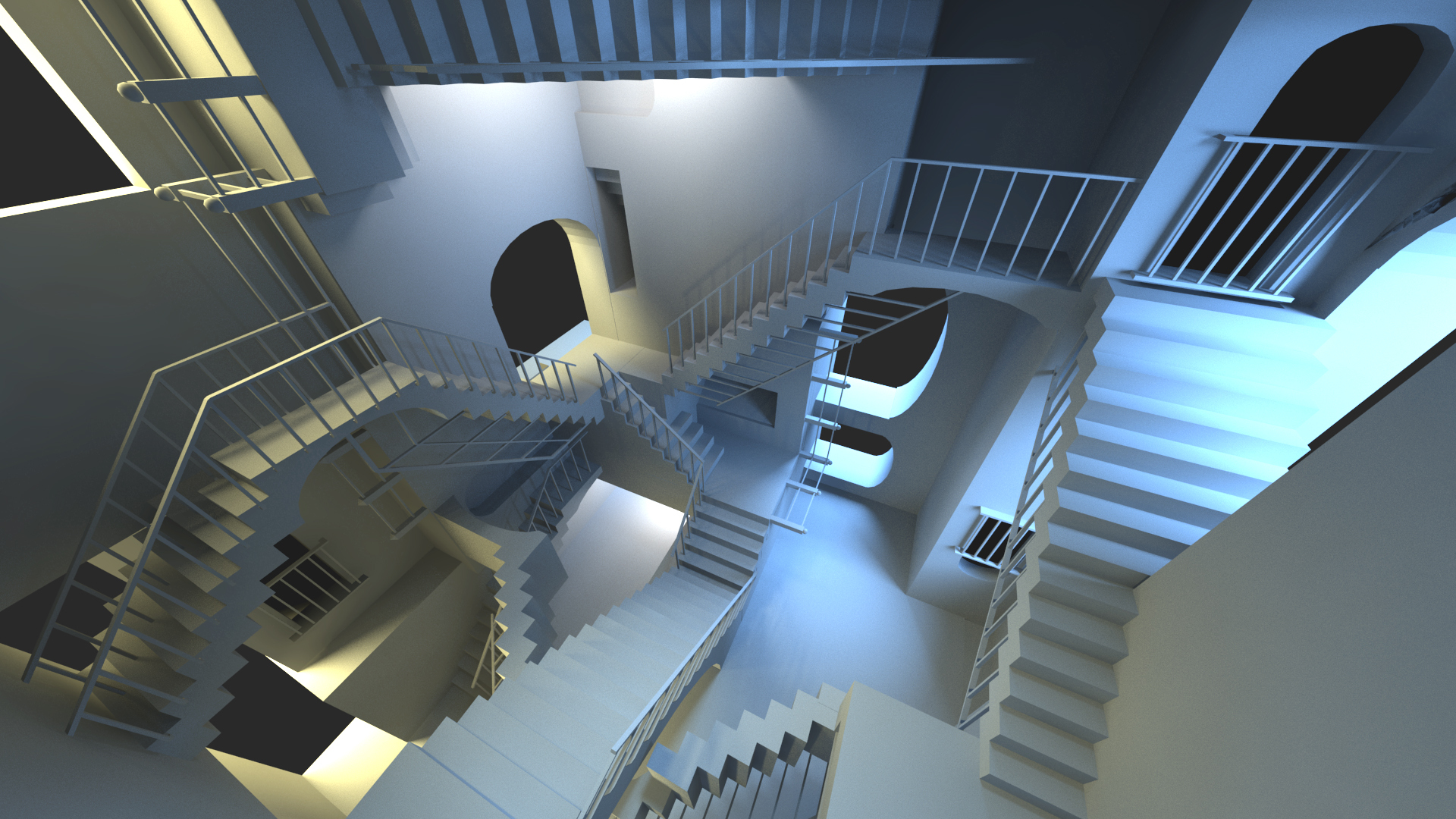 Escher stairs - Unity VR project - Work in Progress [WIP