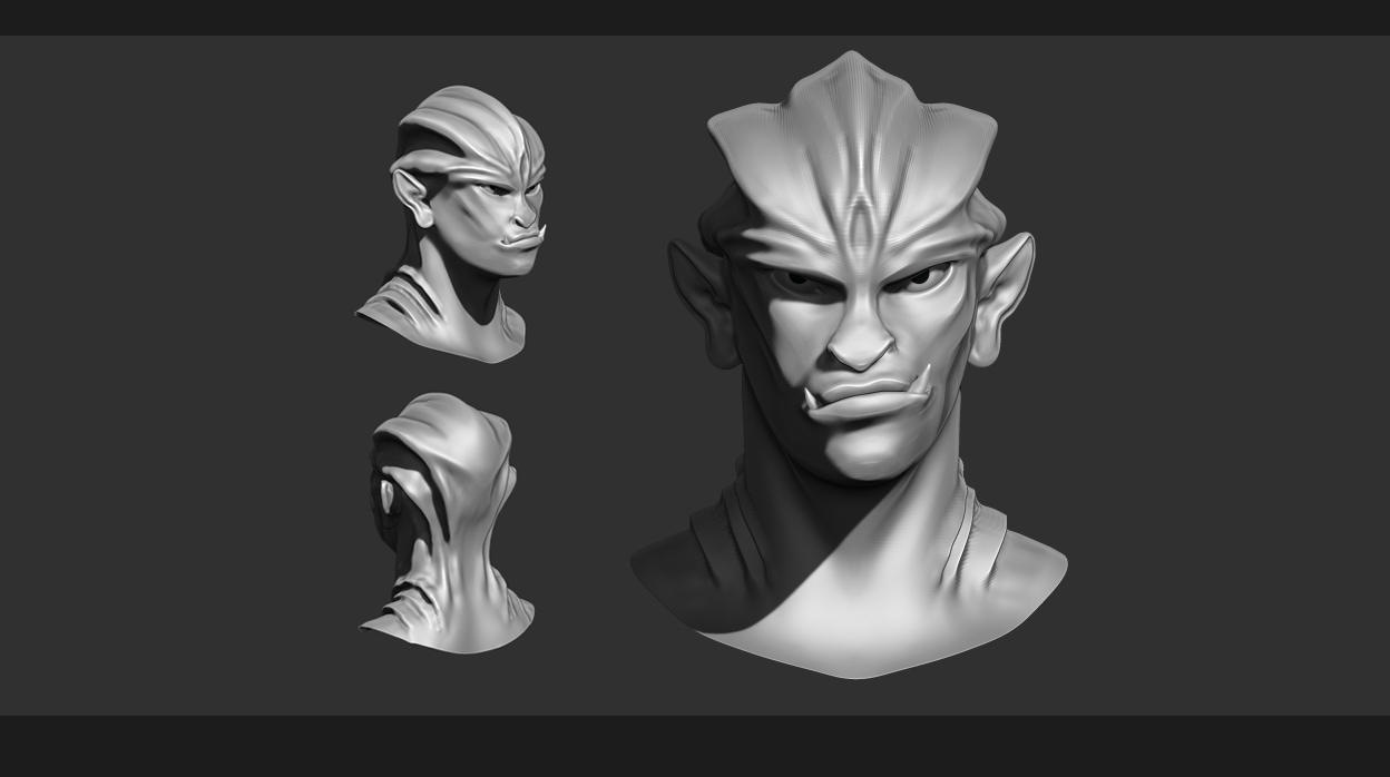WIP! Character Head anatomy study [Stage 1 for Character Art Design ...