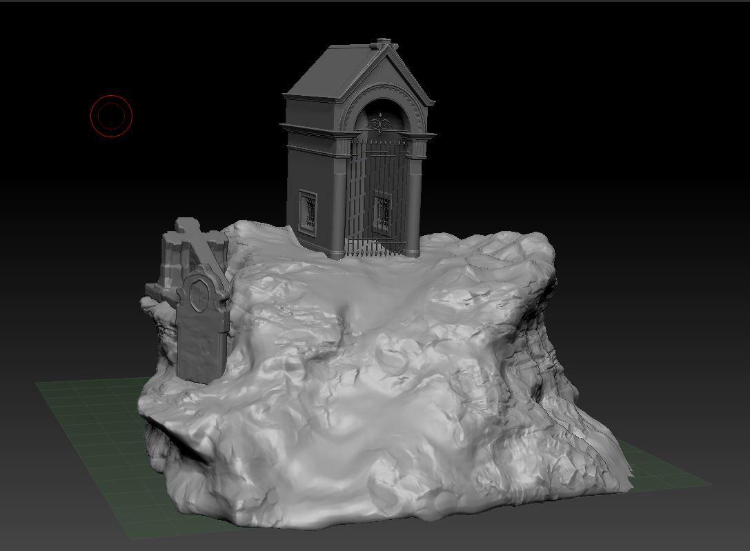 Artist in Residence] - Graveyard Diorama - Work in Progress