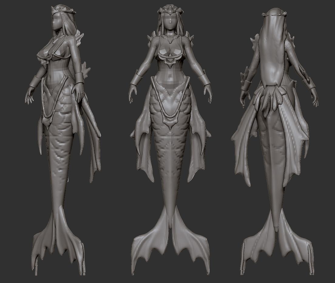 Artist in Residence] The Mermaid Queen - Artwork - Sketchfab Forum