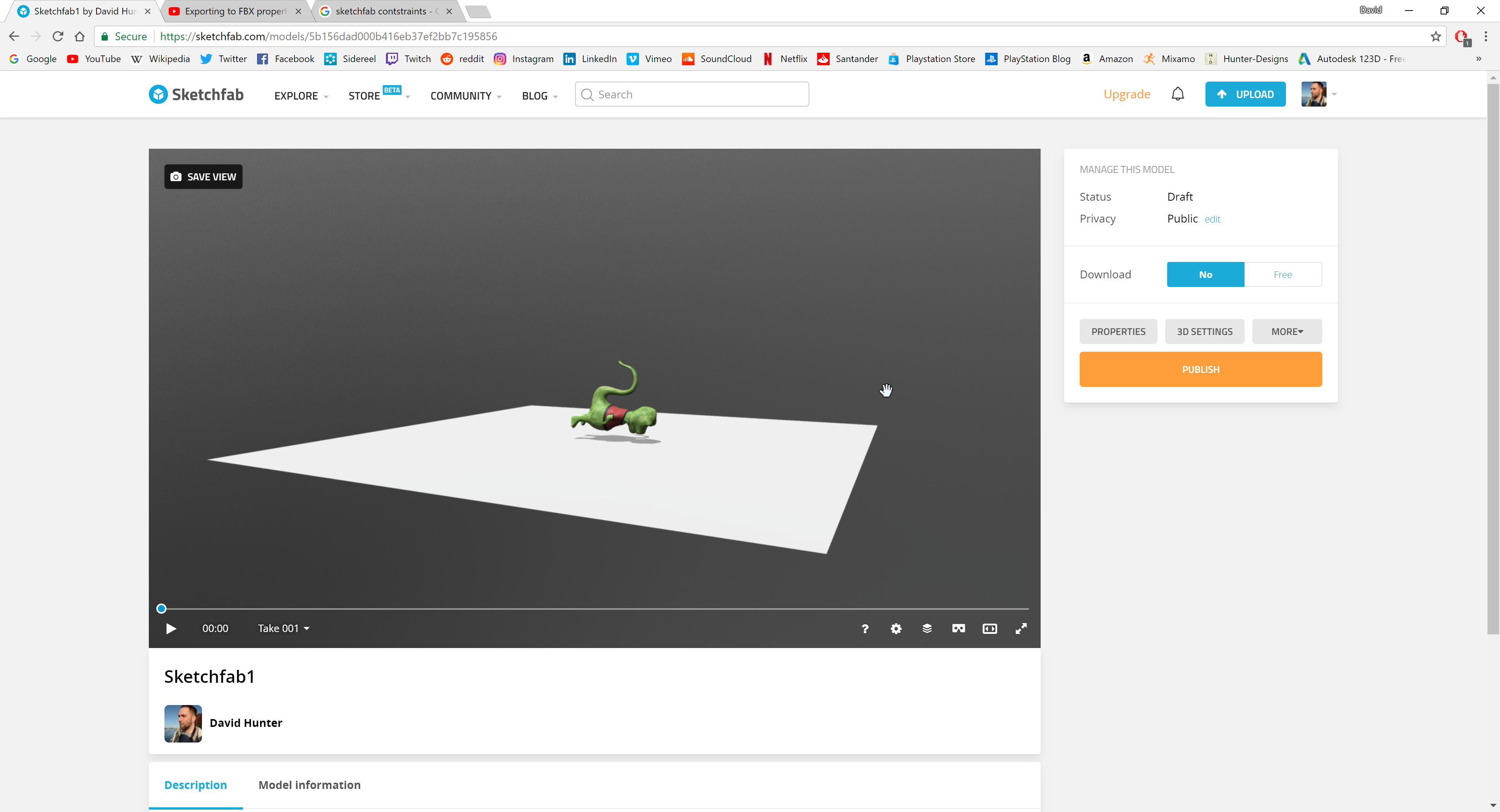 Having trouble uploading Control Rig with Blendshapes from
