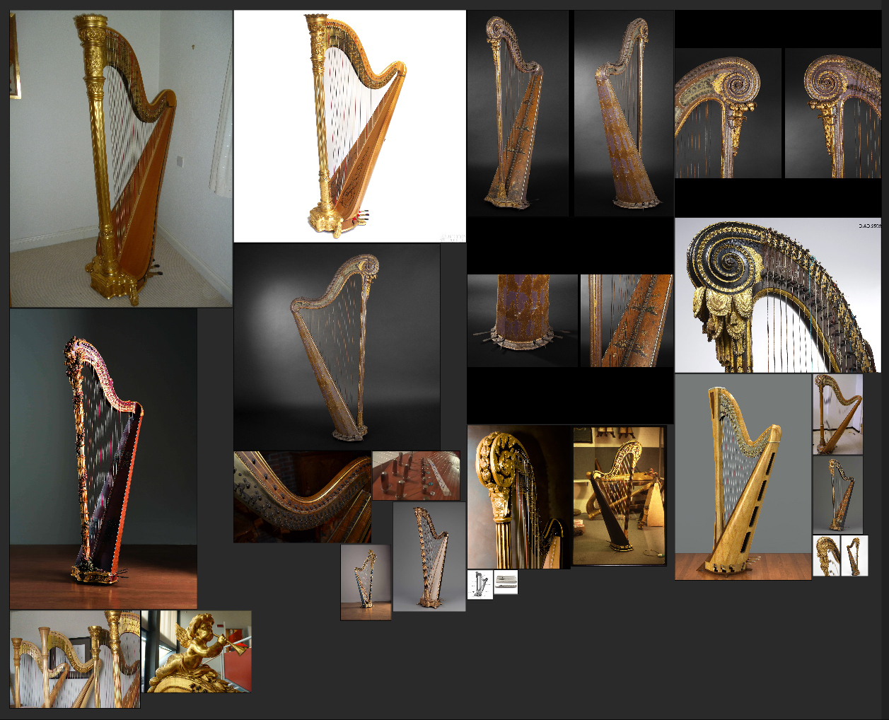Artist in Residence] - Pedal Harp - Work in Progress [WIP