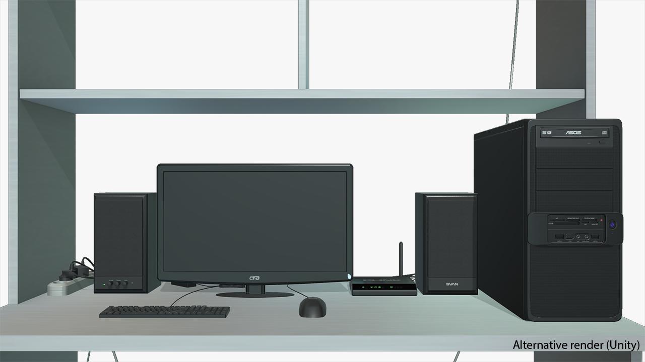 Computer Desk Top View