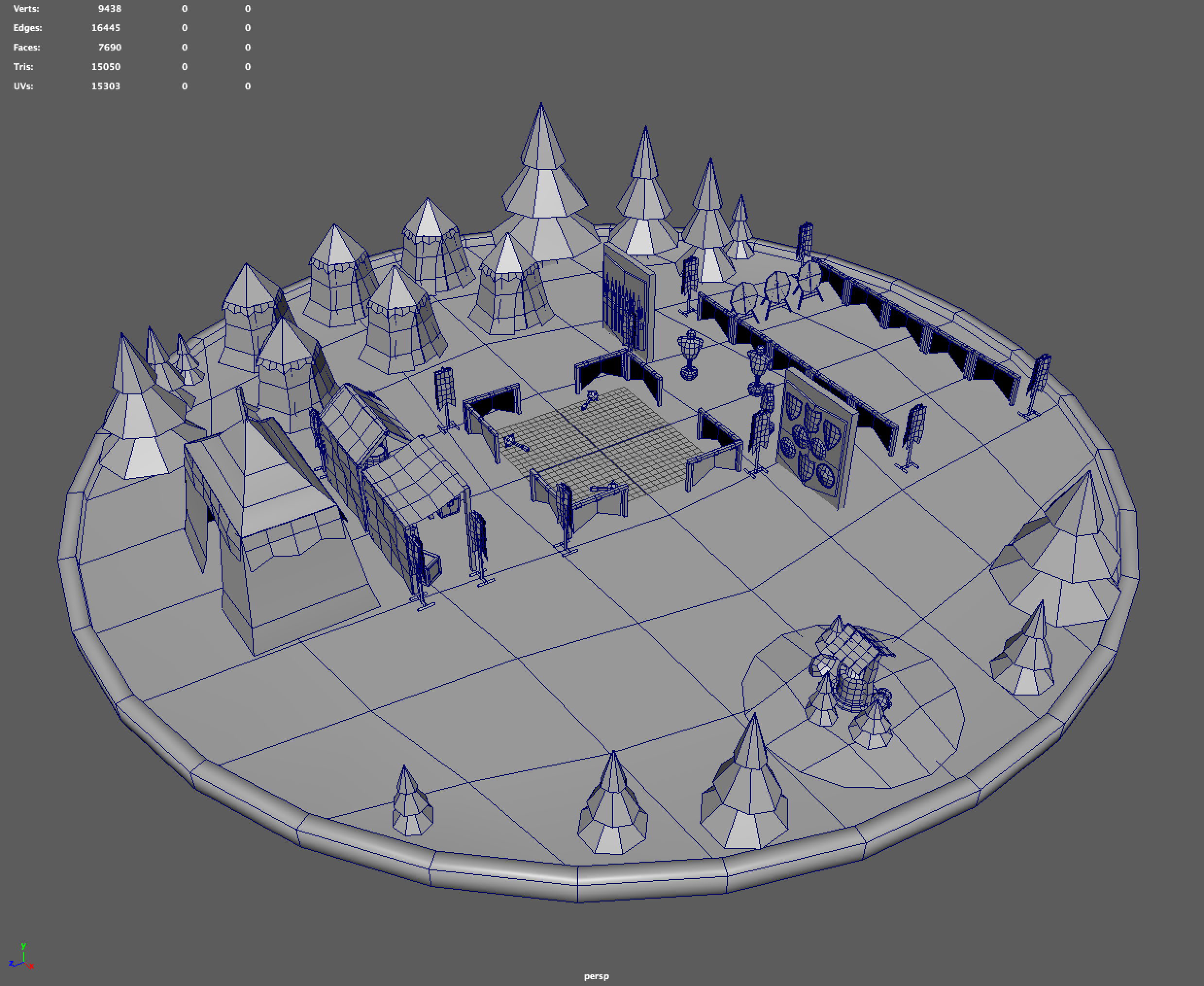 Medieval Training Grounds WIP - Medieval Fantasy Contest - Sketchfab