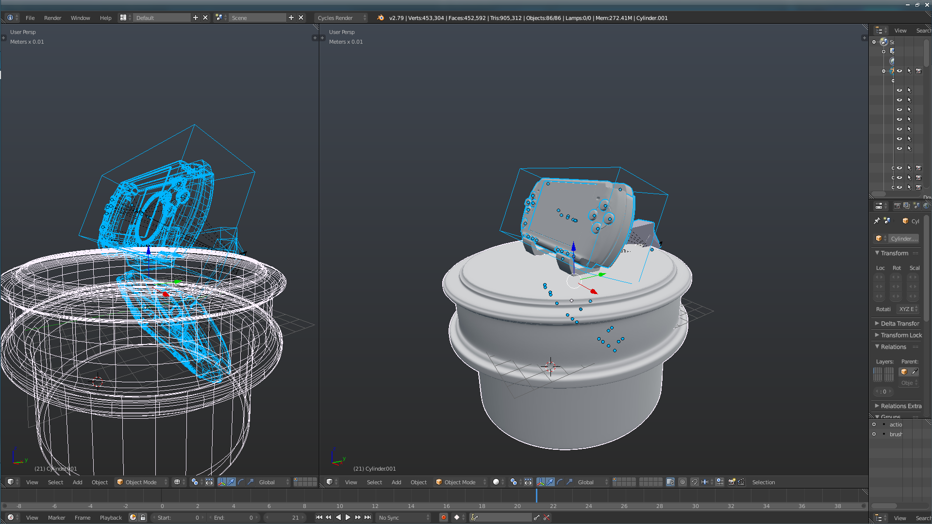 Blender Armature not importing correctly - Bones have