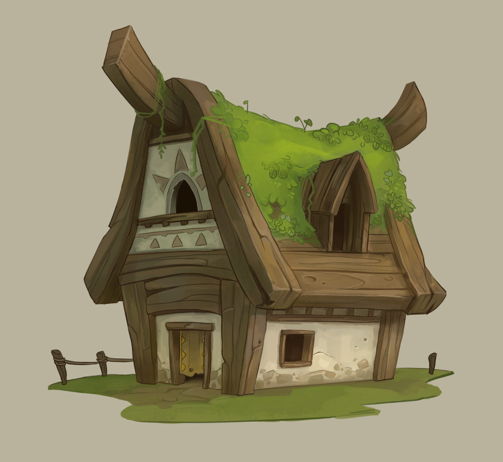 Completed medieval fantasy contest fishermen village for Small house design games