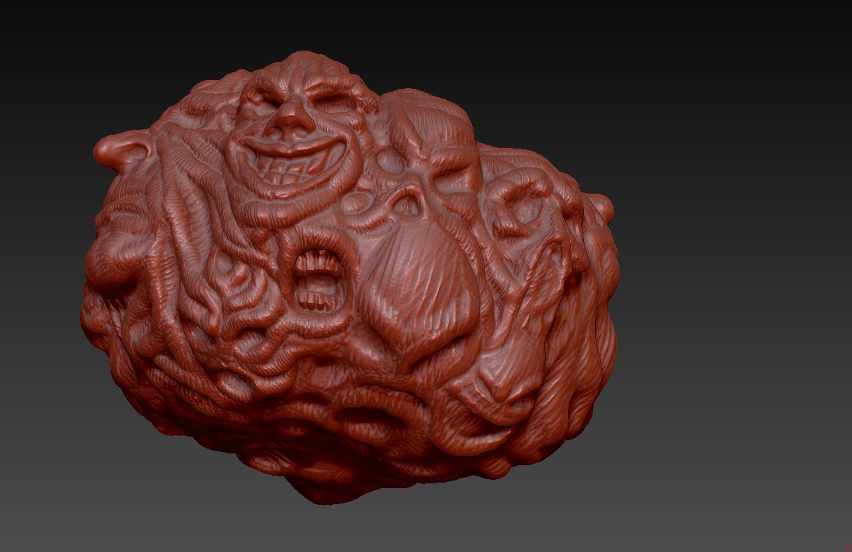 Ended sketchfab sculpting challenge digital pumpkin